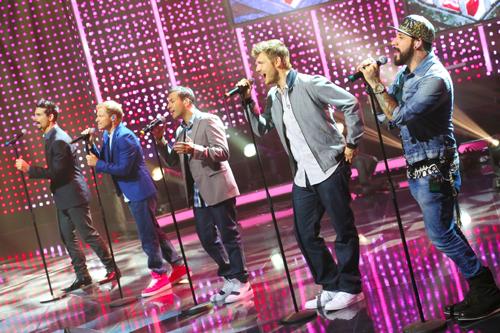 Die Backstreet Boys (v.l. K. Richardson, B. Littrell, H. Dorough, N. Carter und AJ McLean); © RTL / Stefan Gregorowius